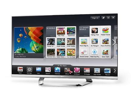 Multimedialer Flatscreen TV mit großem Panel
