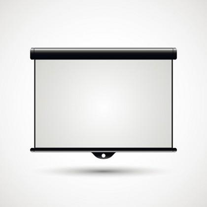 Projektionsfläche für einen Beamer im Heimkino